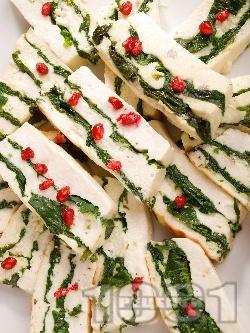 Терин от бяла риба със спанак - снимка на рецептата